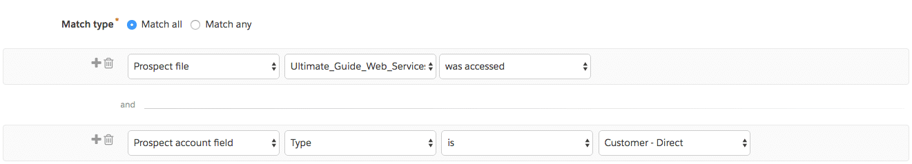 pardot dynamic list specific file accessed